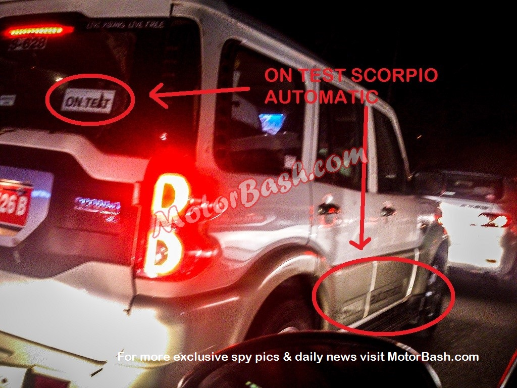 New Mahindra Scorpio Automatic AT spied