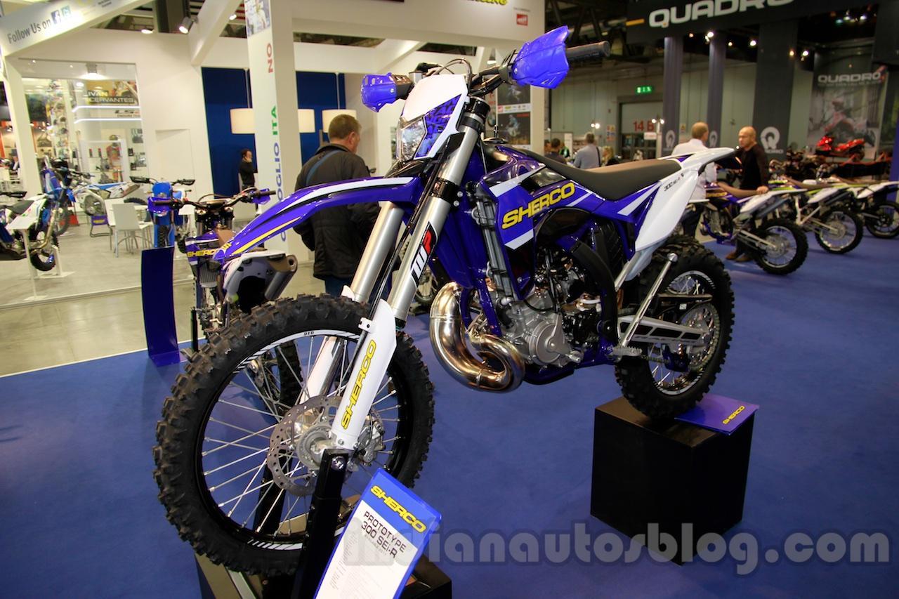 Sherco Prototype 300 SEi-R front quarters at EICMA 2014