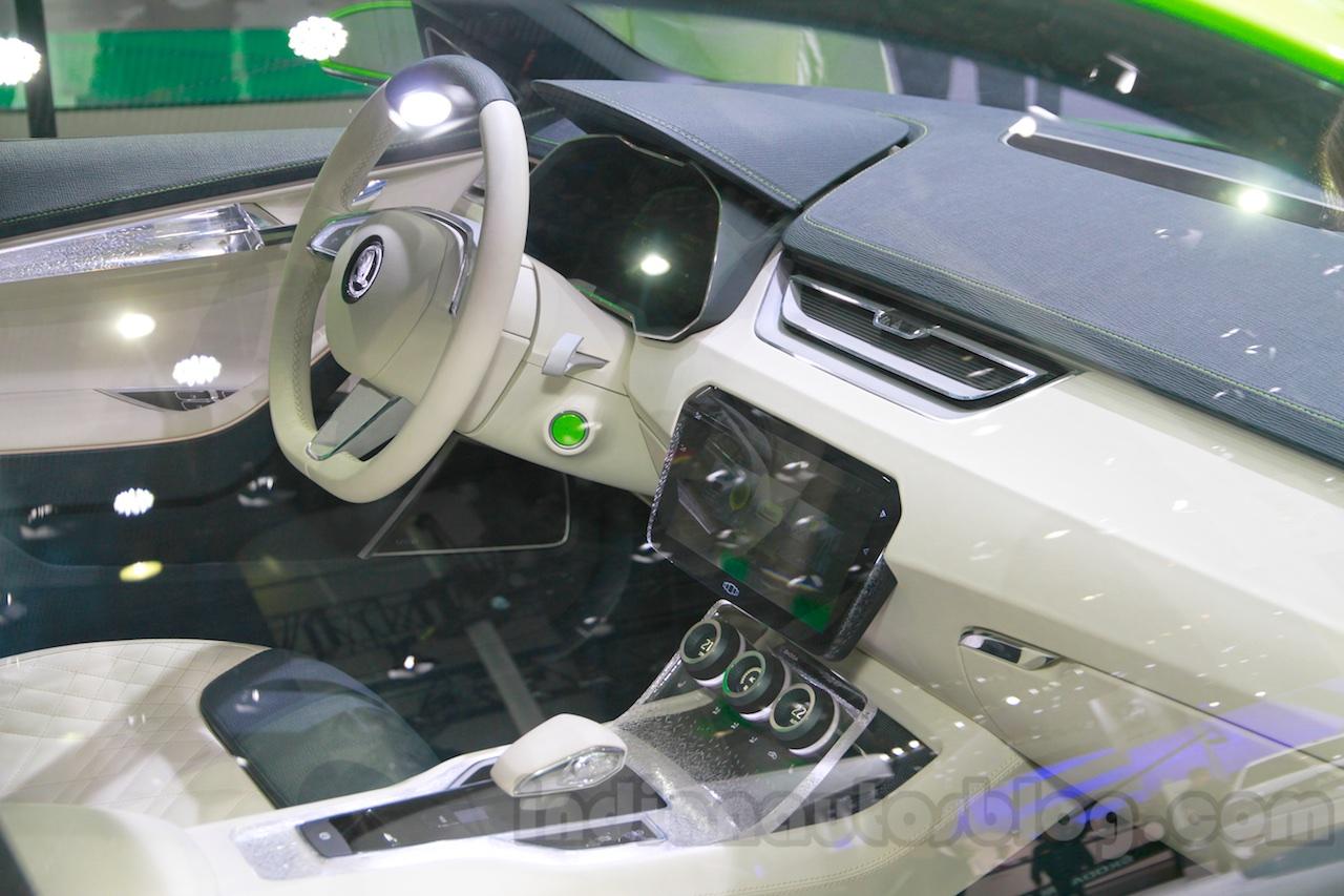 Skoda VisionC Concept dash at the 2014 Guangzhou Auto Show