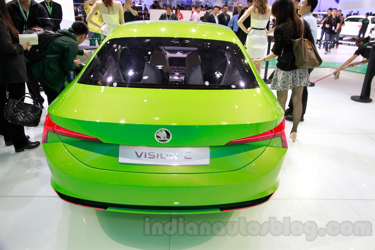 Skoda VisionC Concept rear at the 2014 Guangzhou Auto Show