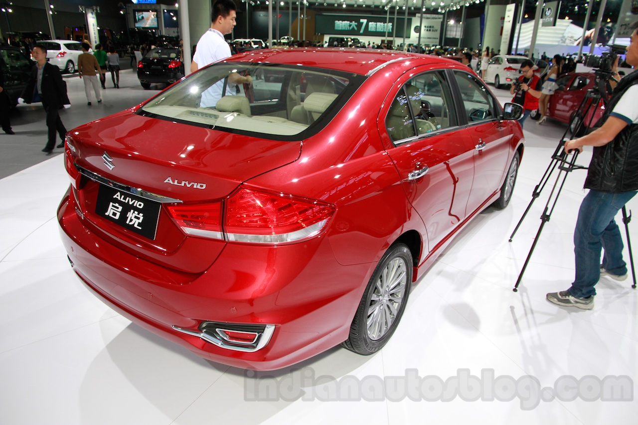 Suzuki Alivio rear quarters at 2014 Guangzhou Auto Show
