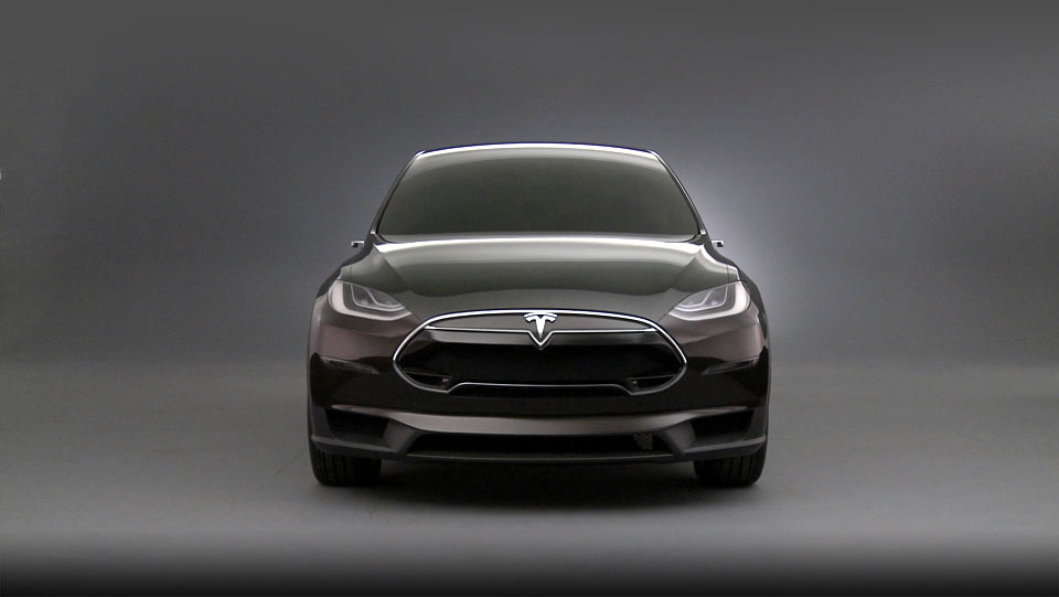 Tesla Model X front press shot