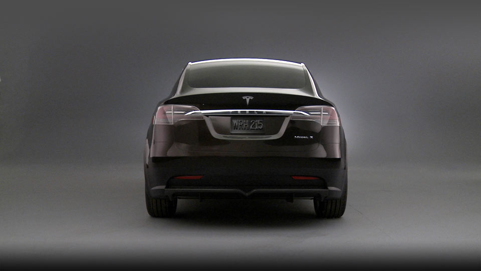 Tesla Model X rear press shot