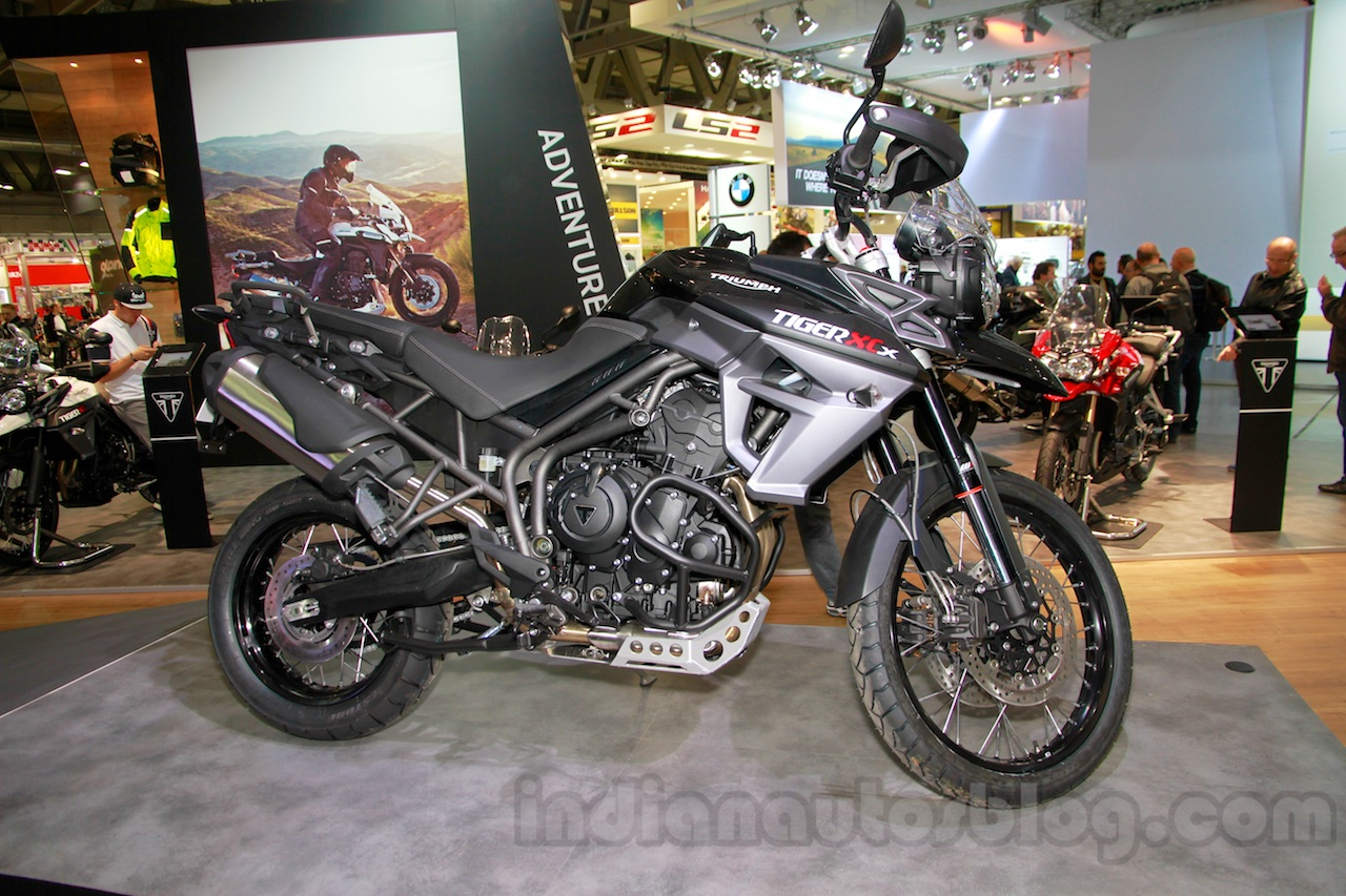 Triumph Tiger 800 XCx profile at EICMA 2014