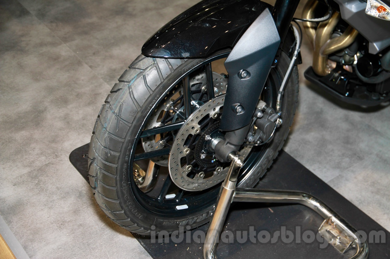 Triumph Tiger 800 XR front wheel at EICMA 2014