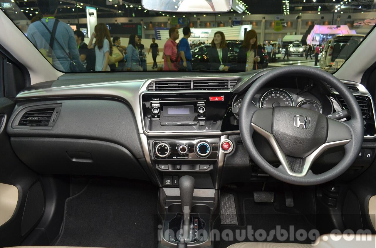 2014 Honda City CNG interior dashboard at the 2014 Thailand Motor Expo
