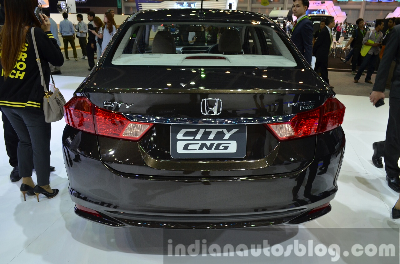 2014 Honda City CNG Rear At The 2014 Thailand Motor Expo