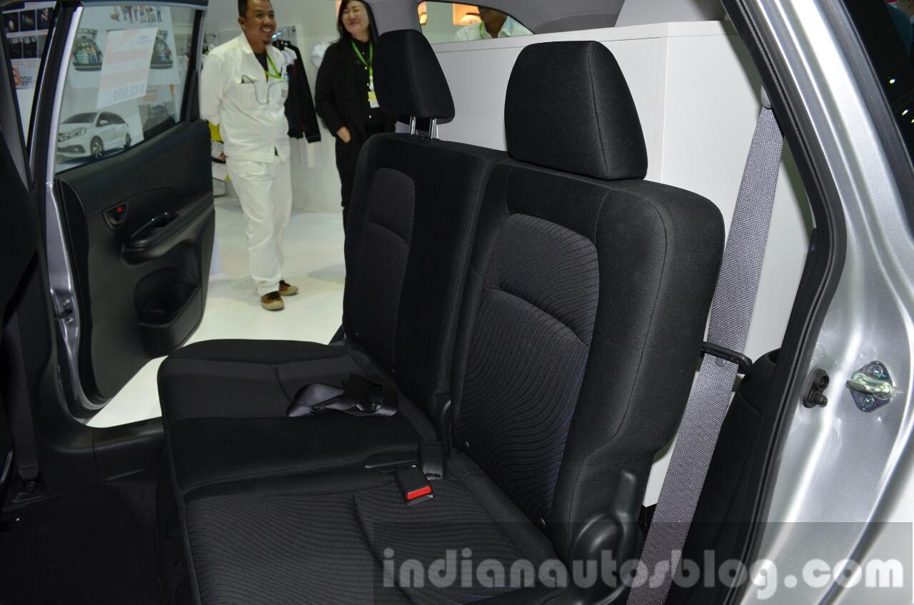2014 Honda Mobilio rear seats at the 2014 Thailand Motor Expo