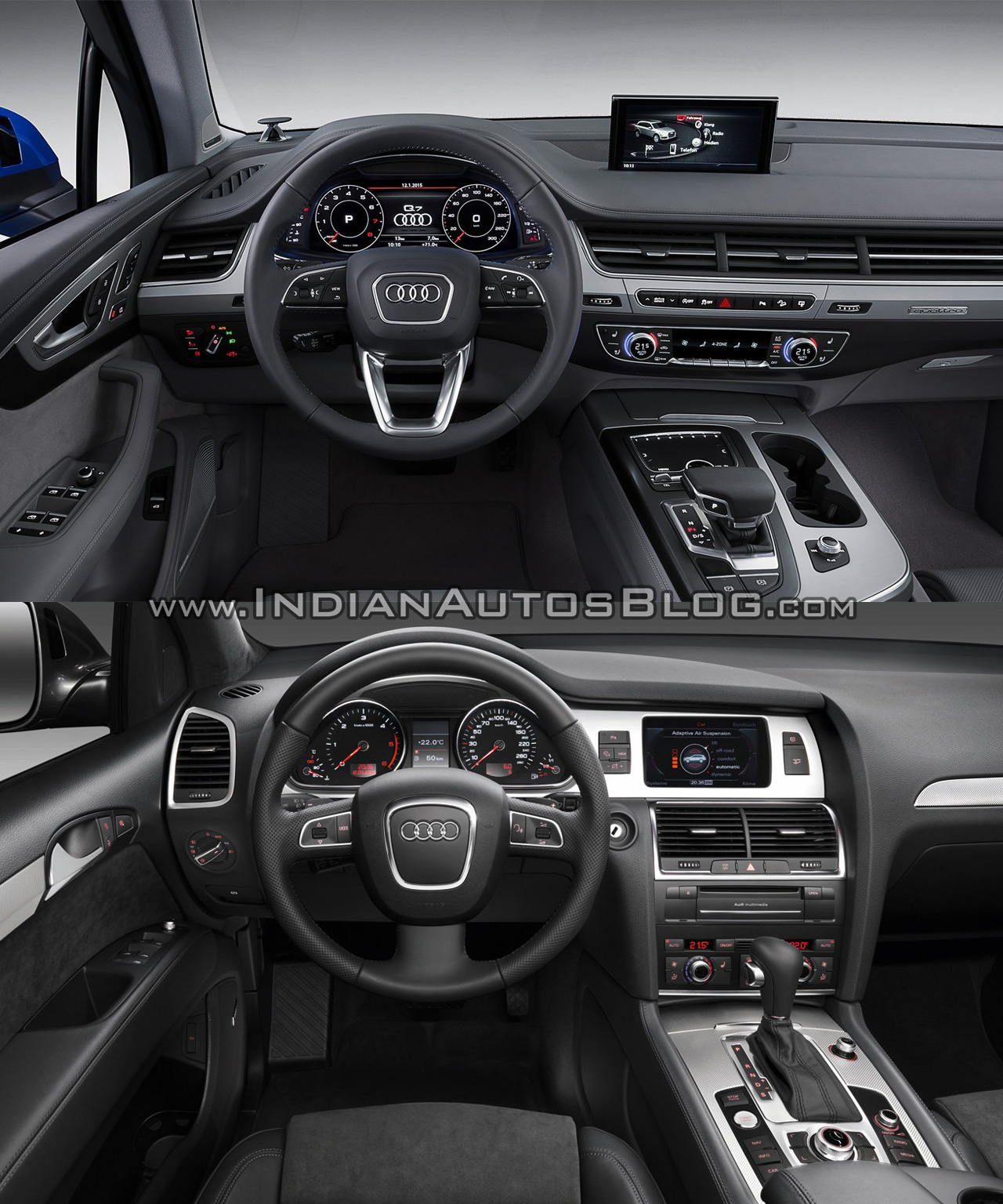 2016 Audi Q7 Vs 2012 Audi Q7 Dashboard