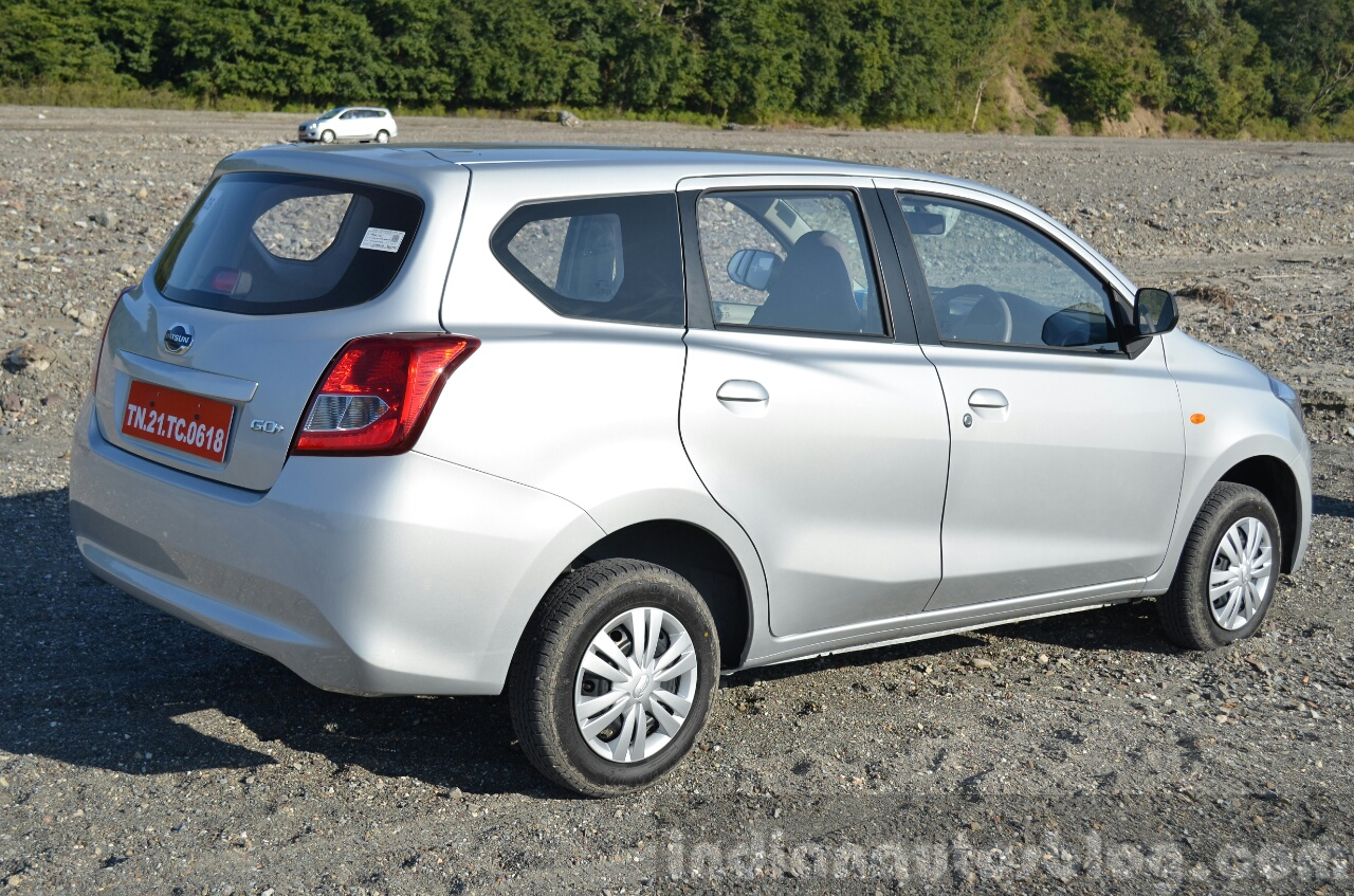 Datsun Go+ rear quarters angle Review