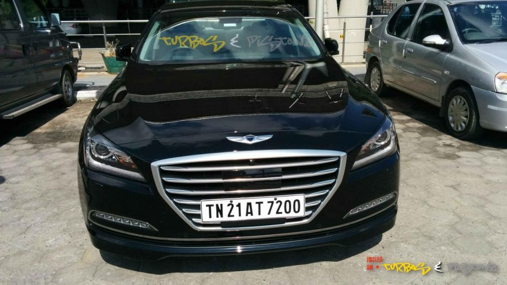 Hyundai Genesis front spied India