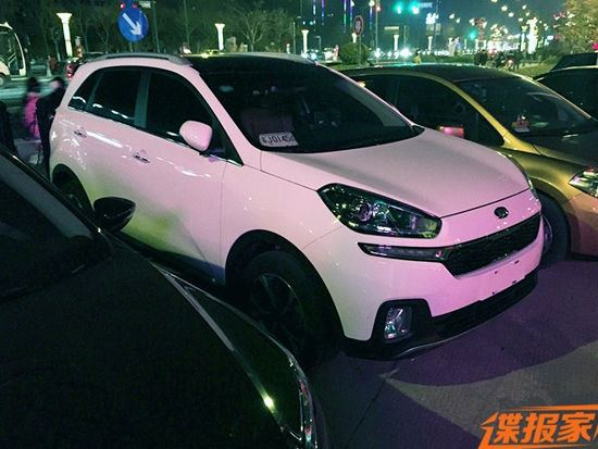 Production Kia KX3 spotted without camouflage