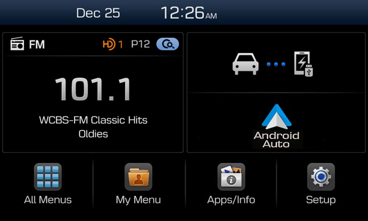 Hyundai Display Audio system with Android Auto integration