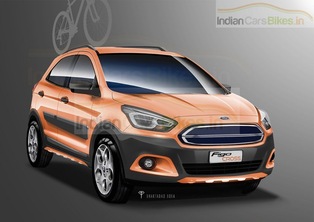 Ford Figo Cross Rendering Front Three Quarter