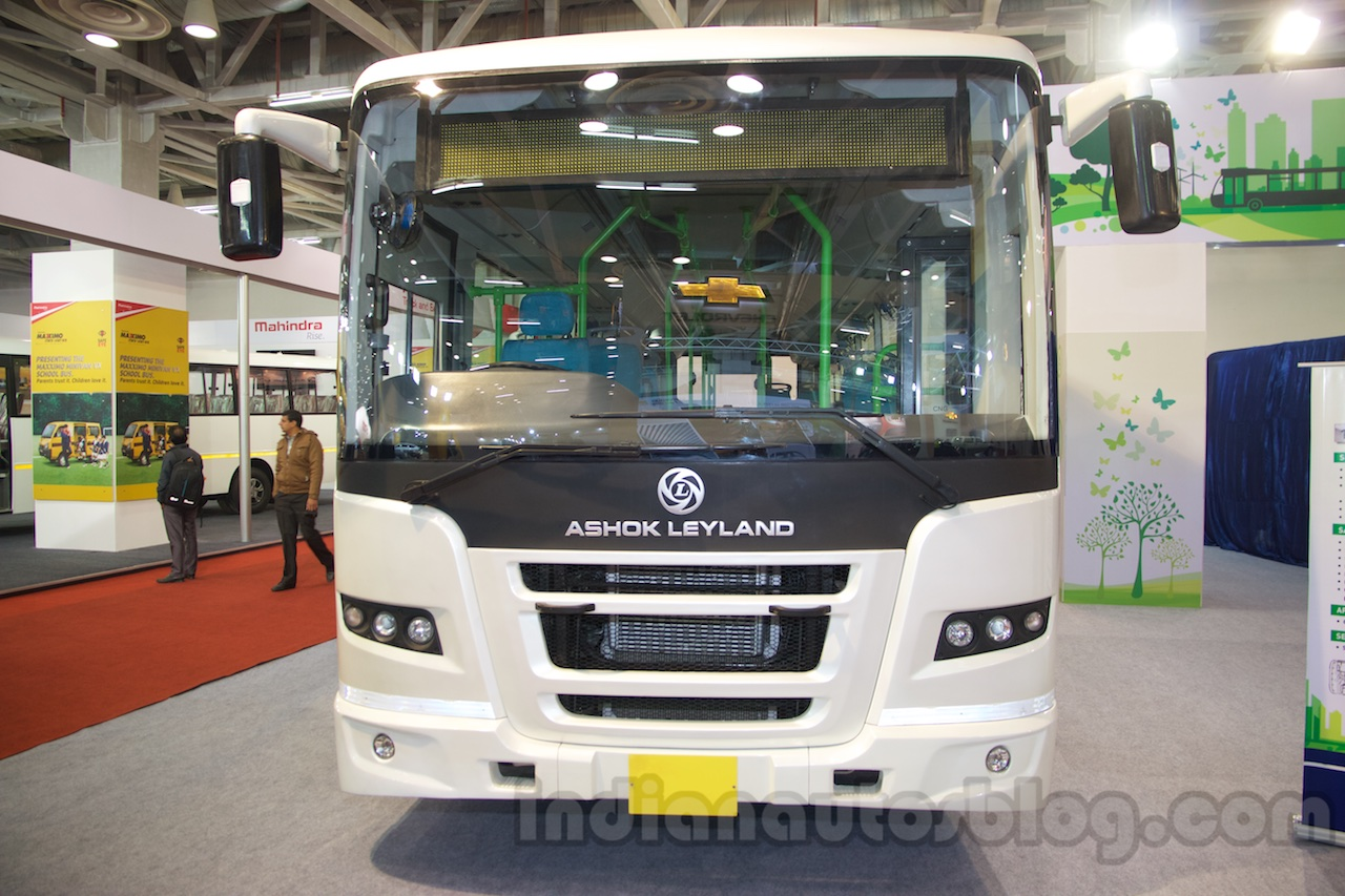 Ashok Leyland FESLF CNG front at the Bus and Special Vehicles Show 2015