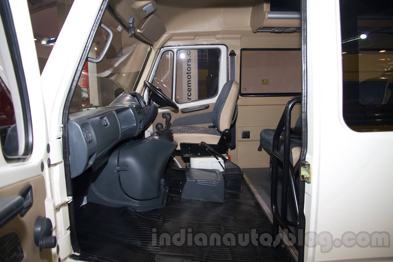 Force Super Luxury Traveller cabin at the Bus and Special Vehicles Show 2015