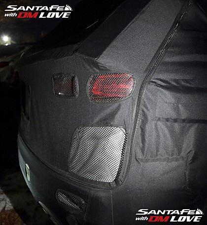 Hyundai Santa Fe Facelift taillight spied