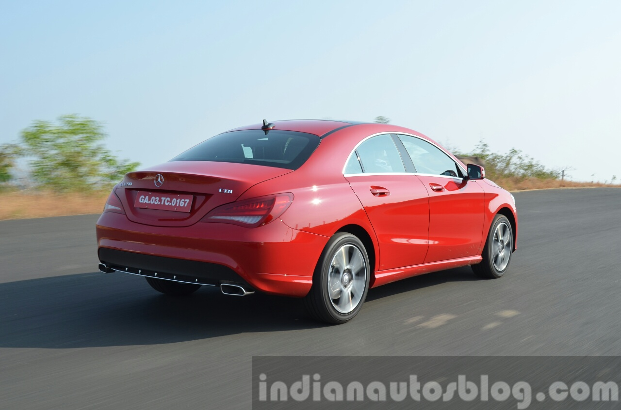 Mercedes CLA 200 CDI dynamic rear quarter Review