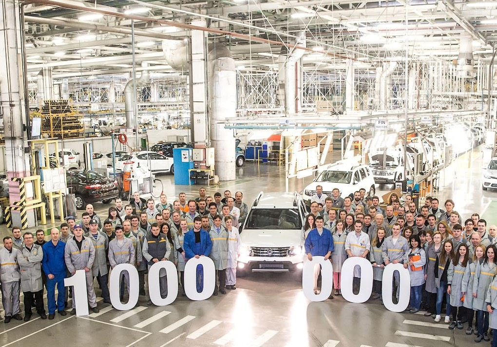 Renault Moscow plant 1 million units production milestone