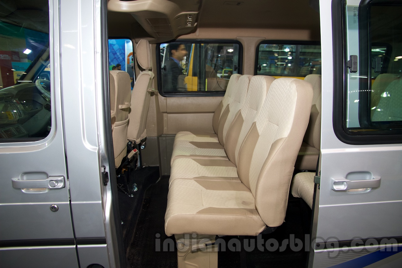Tata Winger Dicor Bs4 Rear Seat At The Bus And Special Vehicle Show 2015