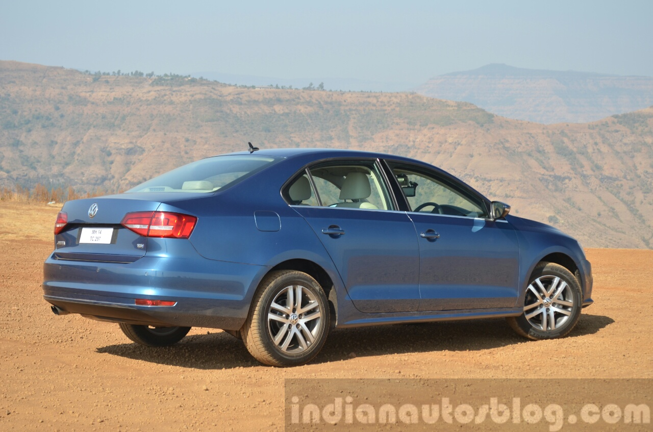 2015 VW Jetta TDI facelift rear three quarter Review