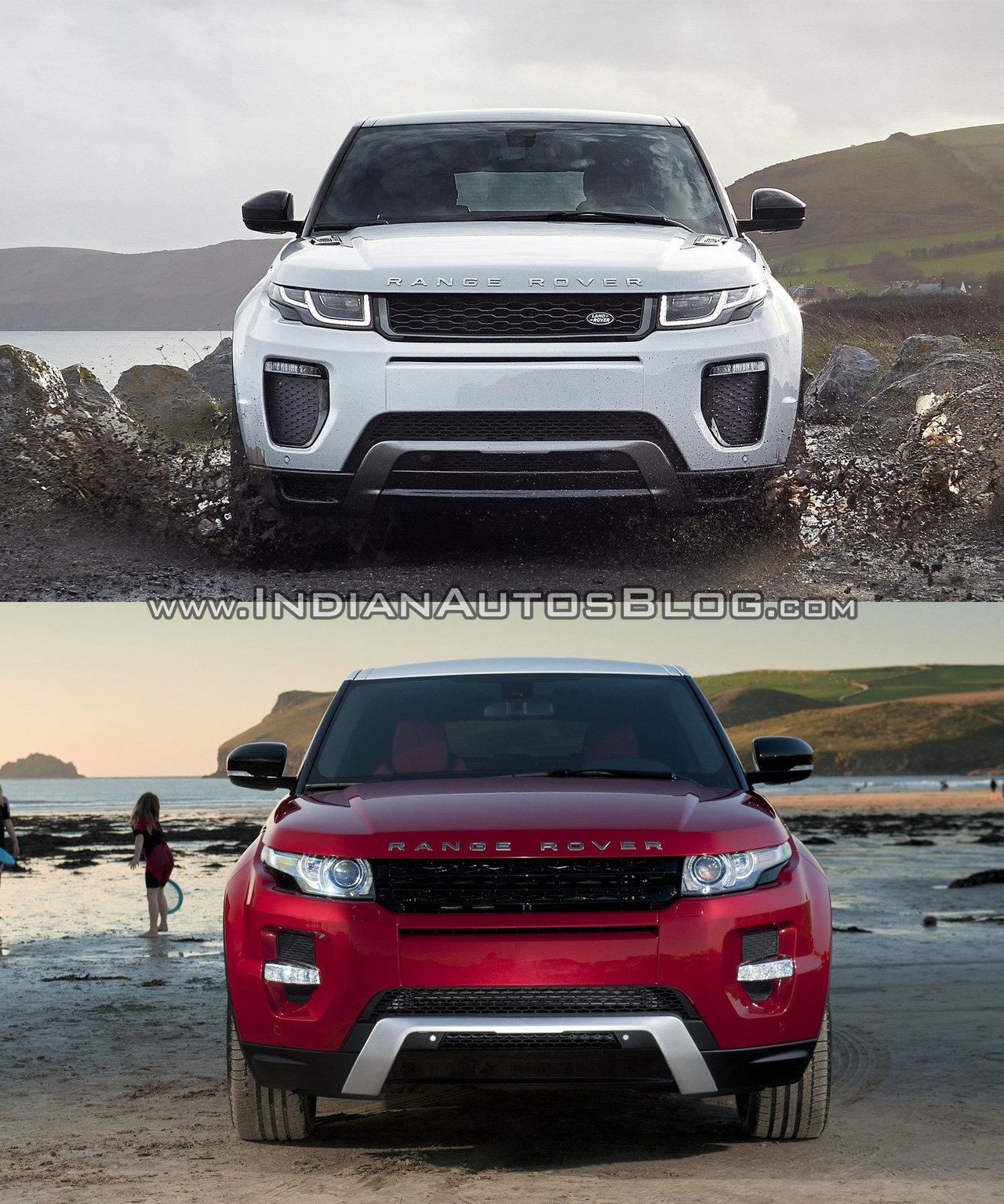 2016 range rover evoque facelift vs 2015 evoque old vs new. Black Bedroom Furniture Sets. Home Design Ideas