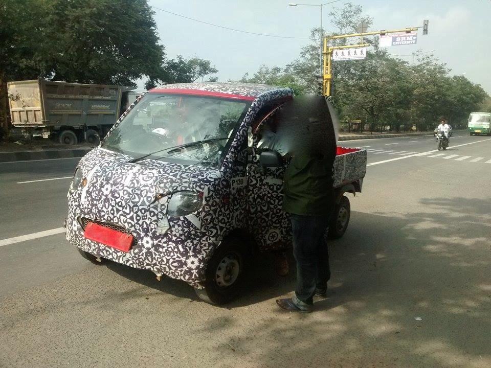 Mahindra P601 LCV front end spyshot