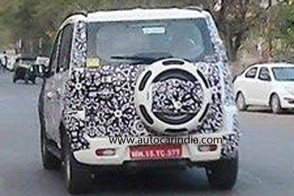 Mahindra Quanto facelift rear spyshot