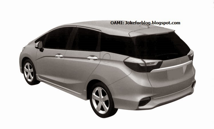 2015 Honda Jazz/Fit Shuttle front three quarters patent drawing