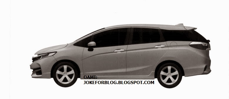 2015 Honda Jazz/Fit Shuttle side view patent drawing