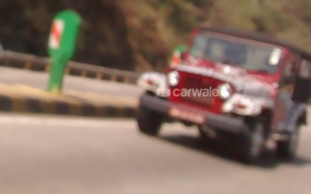 2015 Mahindra Thar Exterior front spied