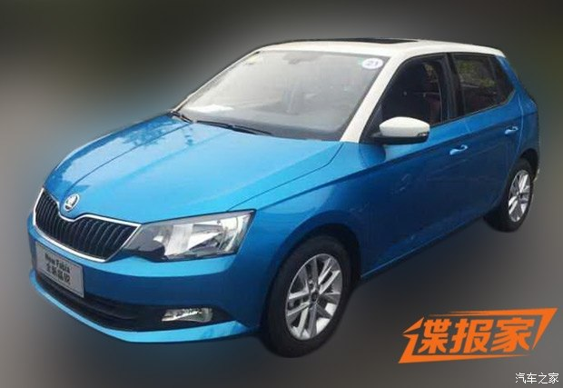 2015 Skoda Fabia spotted in China