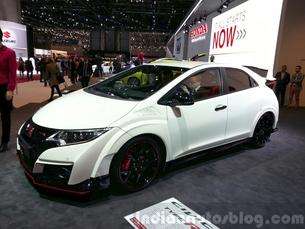 2016 honda civic type r at the 2015 geneva motor show. Black Bedroom Furniture Sets. Home Design Ideas