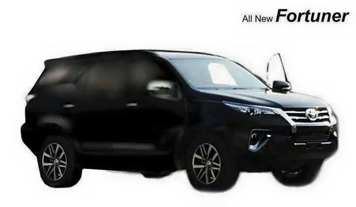 2016 Toyota Fortuner side rendering based on leaked image