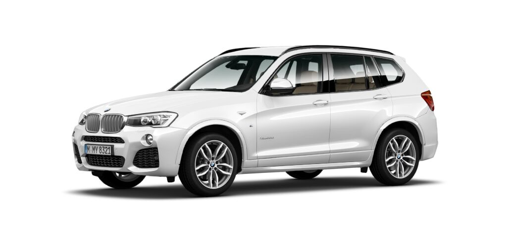 BMW X3 30d MSport front quarter