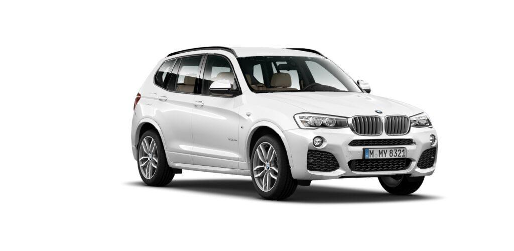 BMW X3 30d MSport front quarters