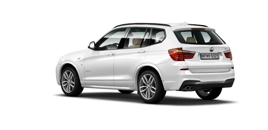 BMW X3 30d MSport rear quarters