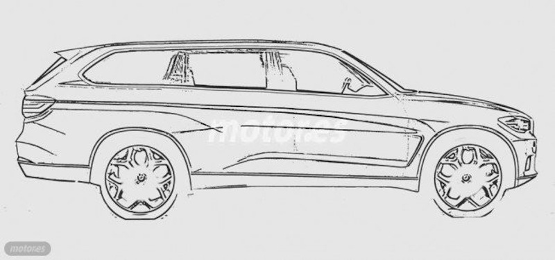 BMW X7 side rendering sketch