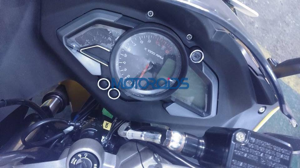 Bajaj Pulsar RS200 ABS instrument cluster latest images from dealership