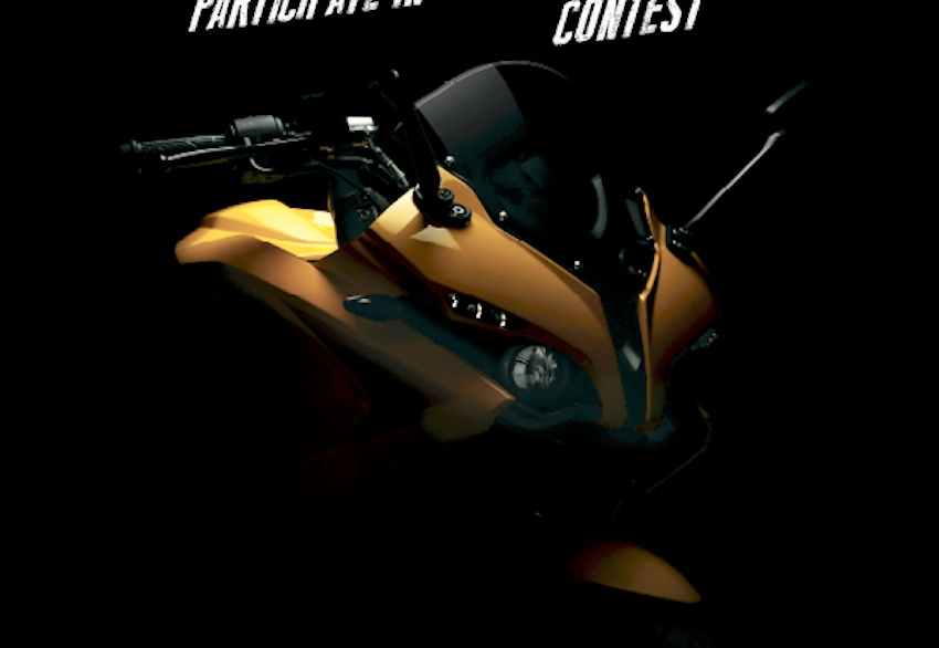 Bajaj Pulsar RS200 teaser image new yellow