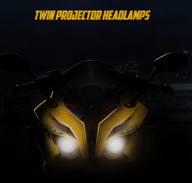 Bajaj Pulsar RS200 twin projector headlights