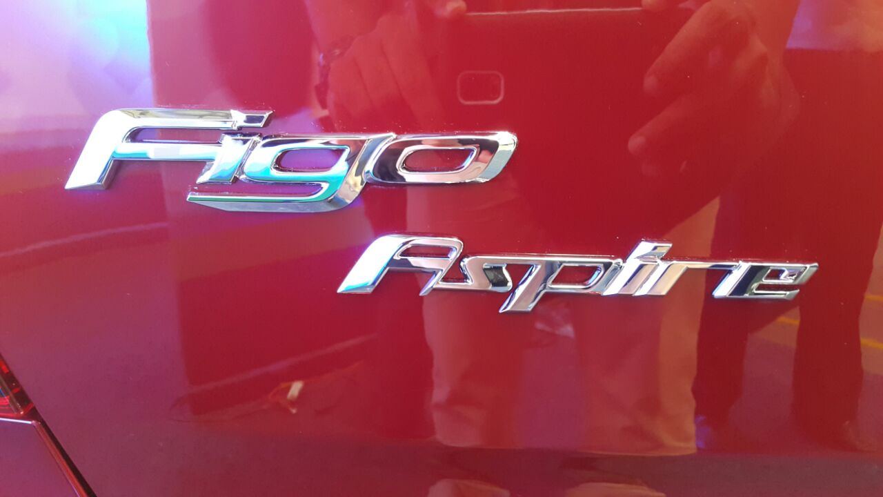 Ford Figo Aspire branding from the Indian premiere