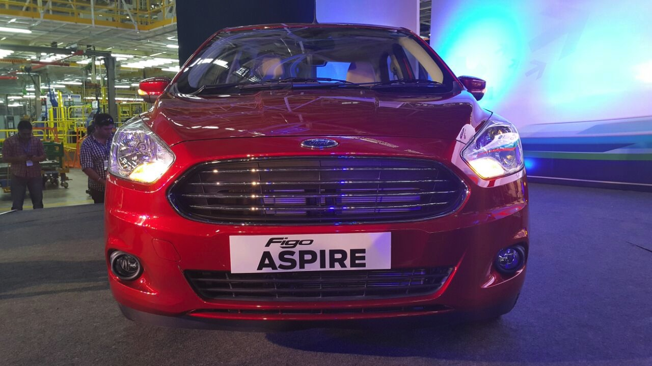 Ford Figo Aspire from the Indian premiere