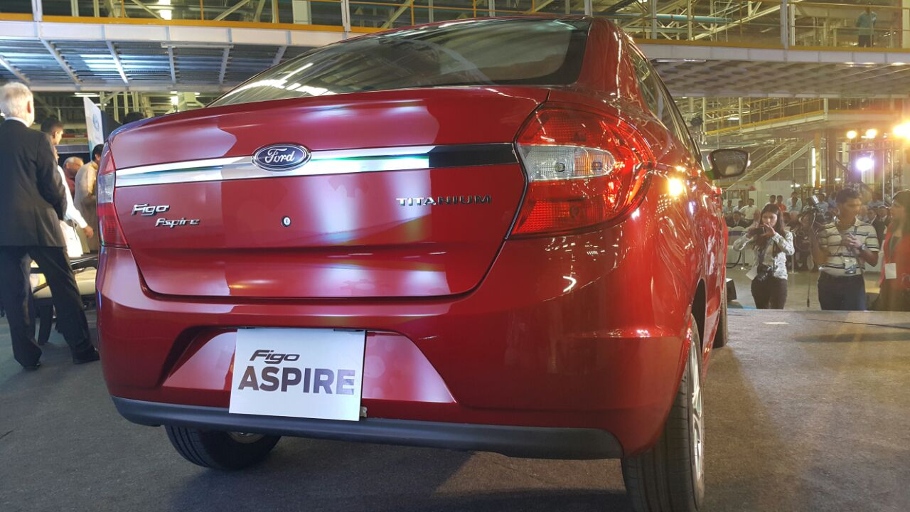 Ford Figo Aspire rear from the Indian premiere