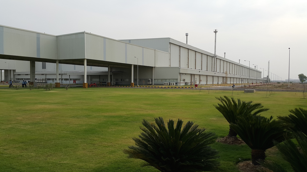 Ford Sanand plant outside building