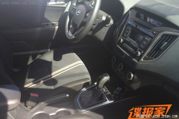Hyundai ix25 1.6T with 7-speed dual cluch AT spied in China interior