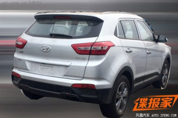 Hyundai ix25 1.6T with 7-speed dual cluch AT spied in China rear
