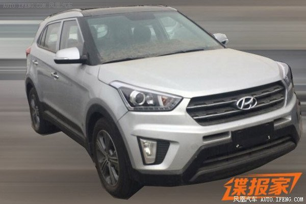 Hyundai ix25 1.6T with 7-speed dual cluch AT spied in China