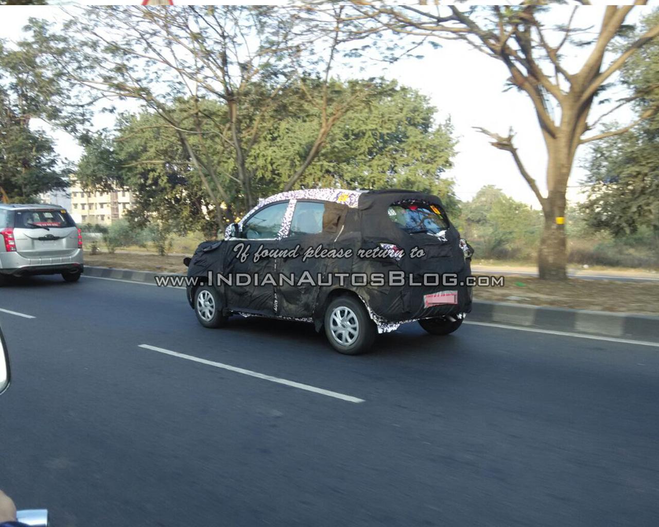 Mahindra S101 rear quarter IAB reader spied