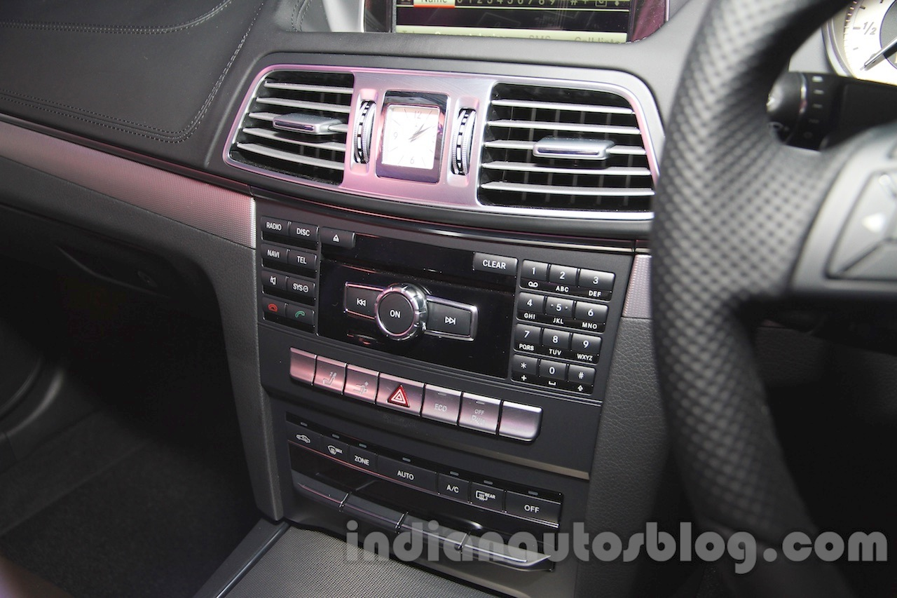 Mercedes E400 Cabriolet center console from the launch in India